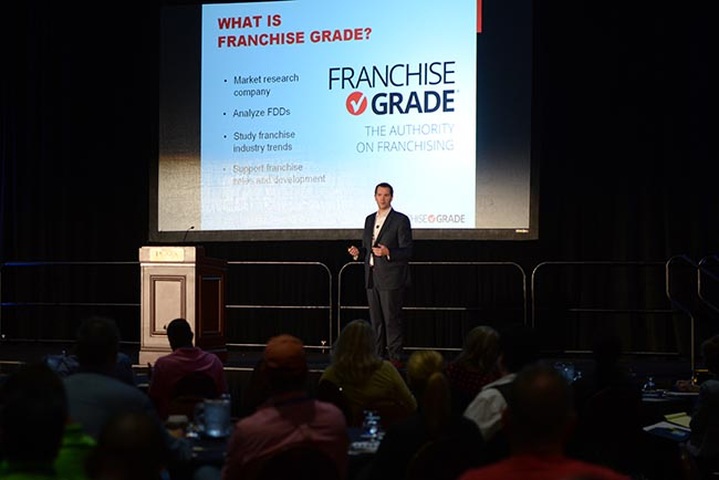 Franchise Grade CEO Jeff Lefler speaks at the 2017 FBA Conference & Expo